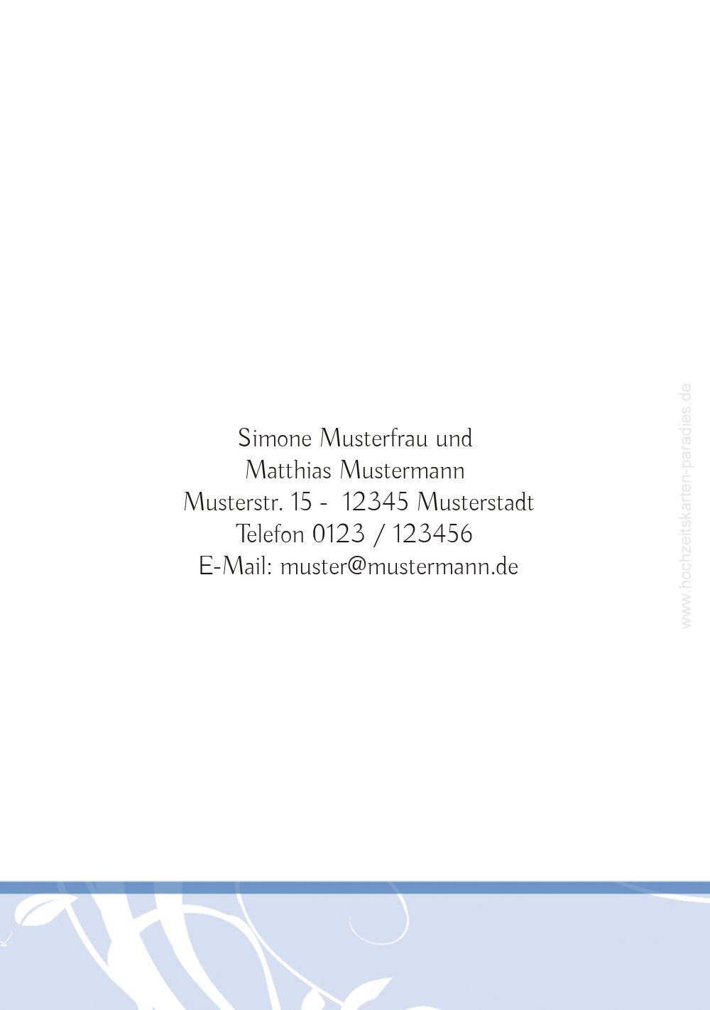 Ansicht 2 - Hochzeit Einladung Blättertraum