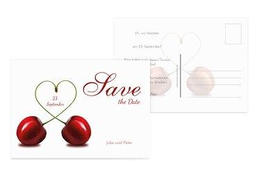 Hochzeit Save-the-Date Kirsche