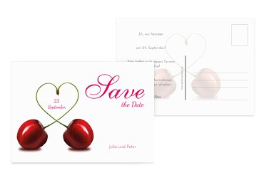 Save-the-Date Mrs&Mrs PinkLeuchtend 148x105mm