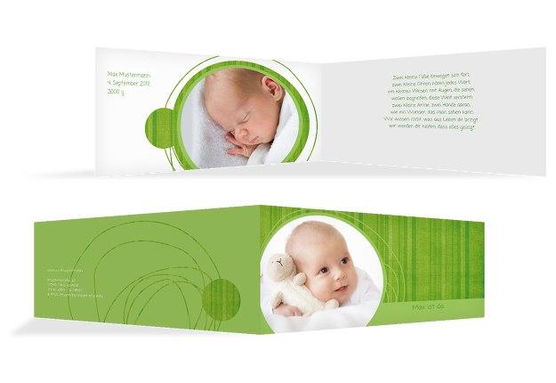 Babykarte Wollknäuel