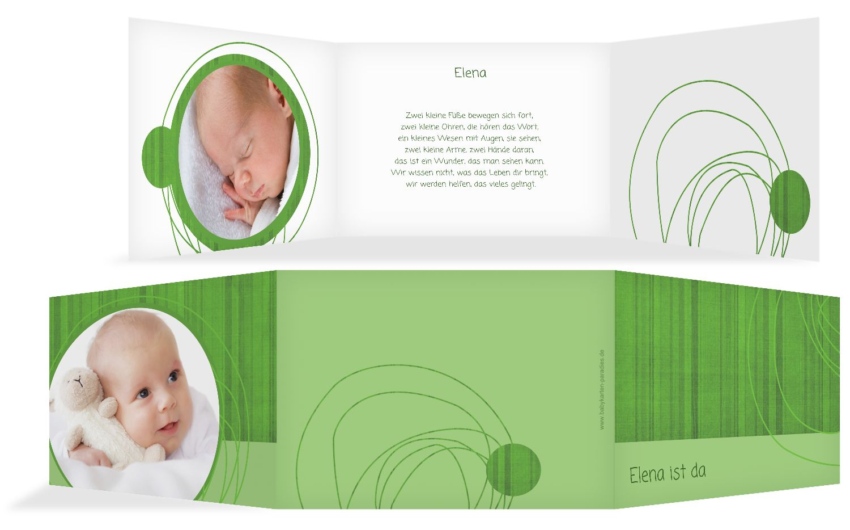 Baby Dankeskarte Wollknäuel