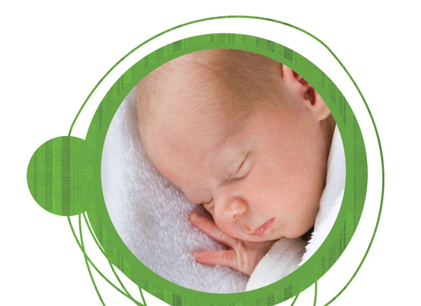 Ansicht 5 - Baby Dankeskarte Wollknäuel