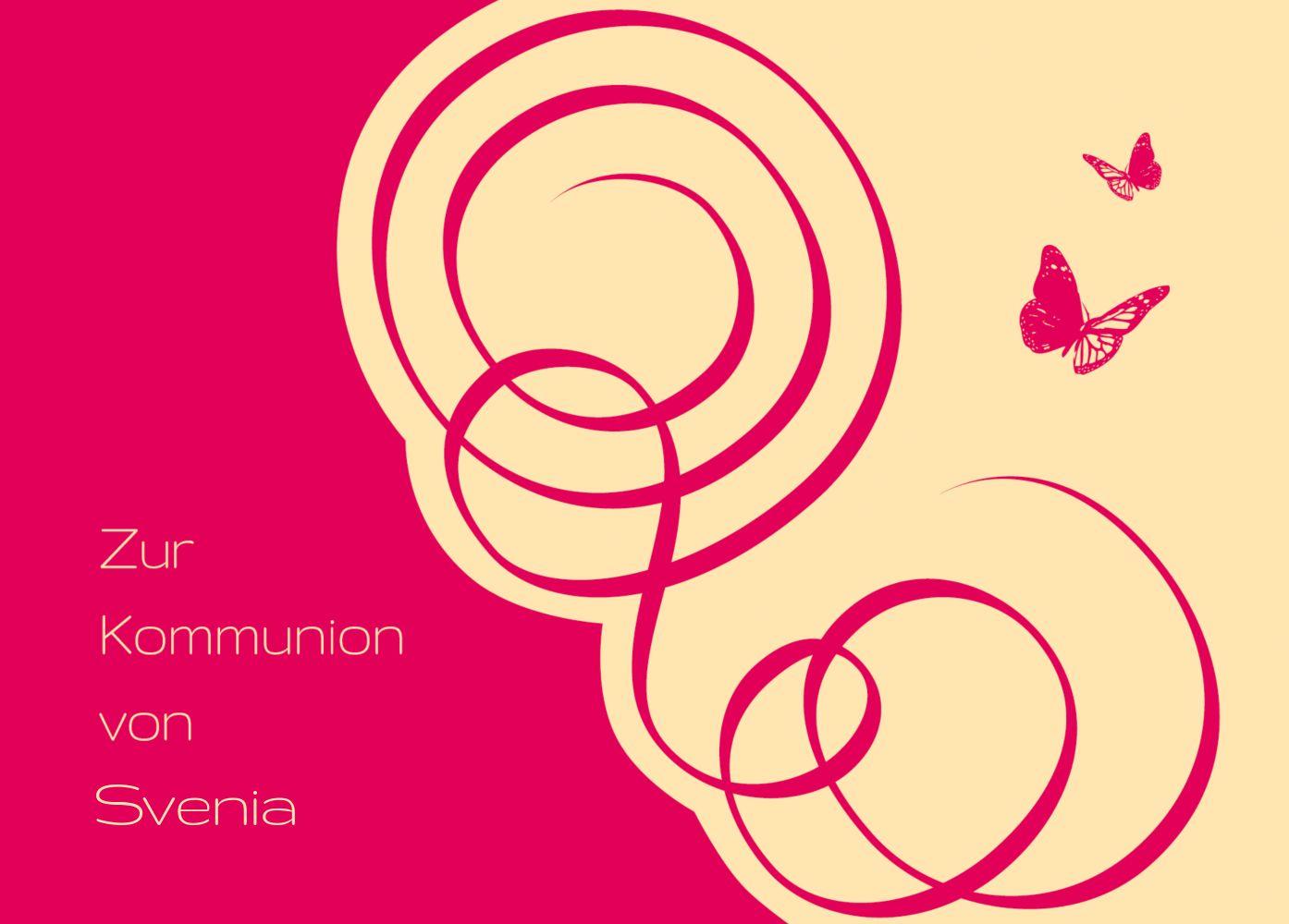 Ansicht 2 - Kommunionskarte Butterfly