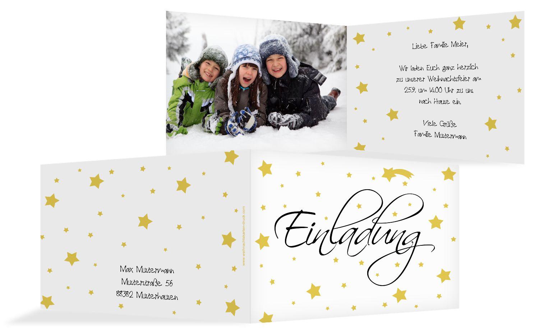 Foto Einladung Sterne