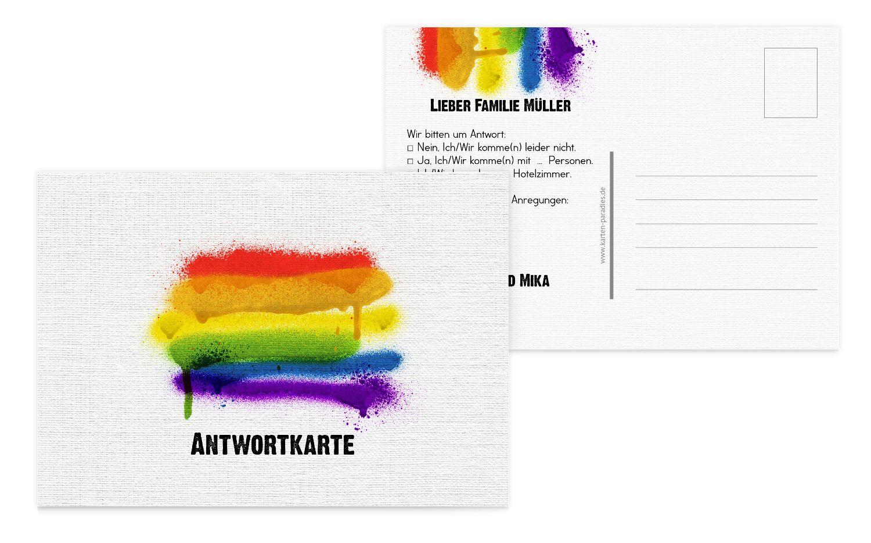Antwortkarte Regenbogenliebe