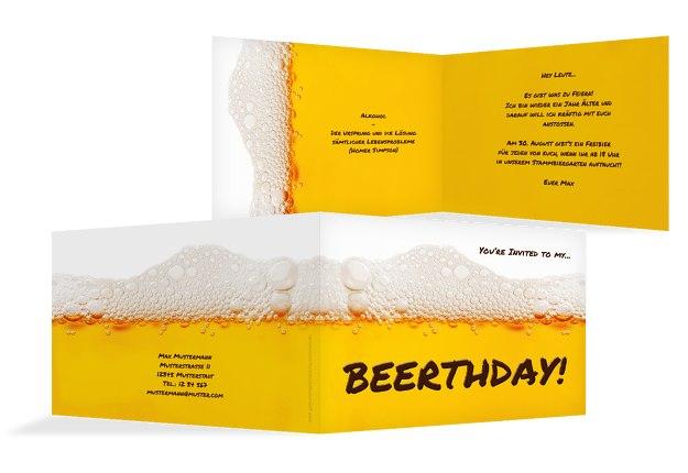Geburtstagseinladung Beerthday!