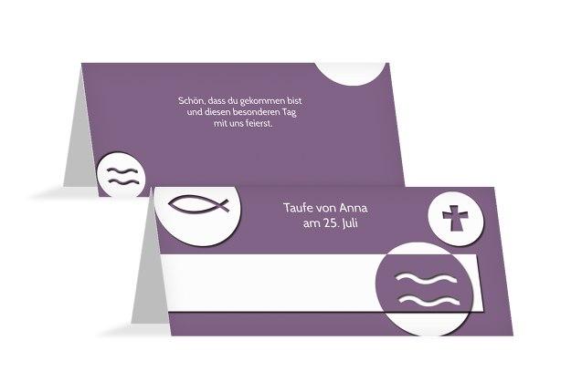 tischkarten taufe vorlagen