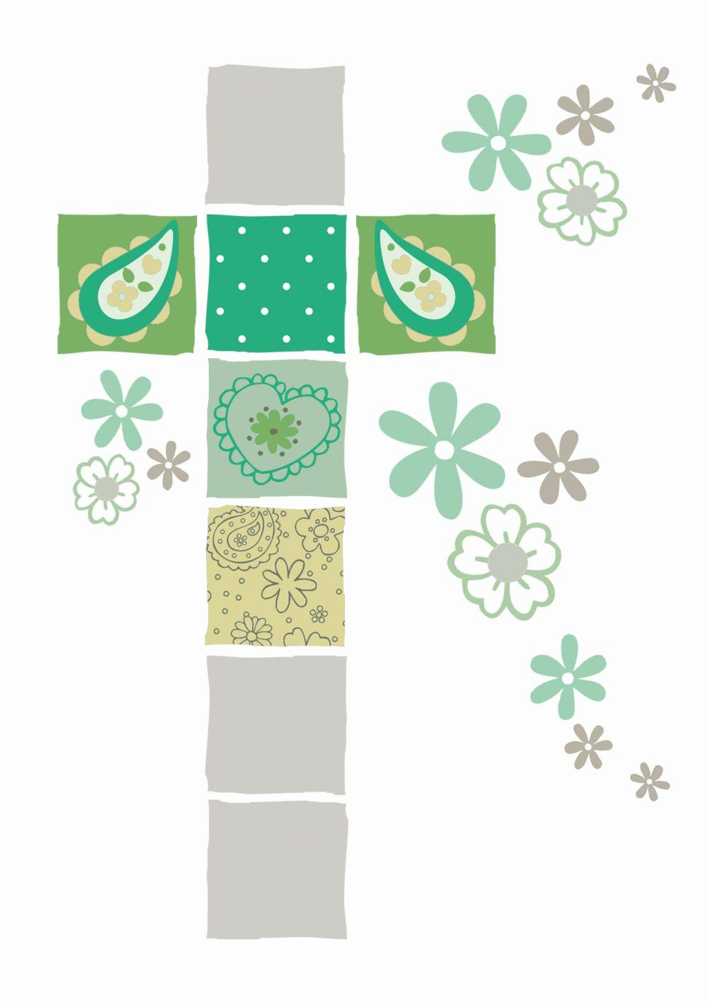 Ansicht 4 - Einladung Florales Kreuz