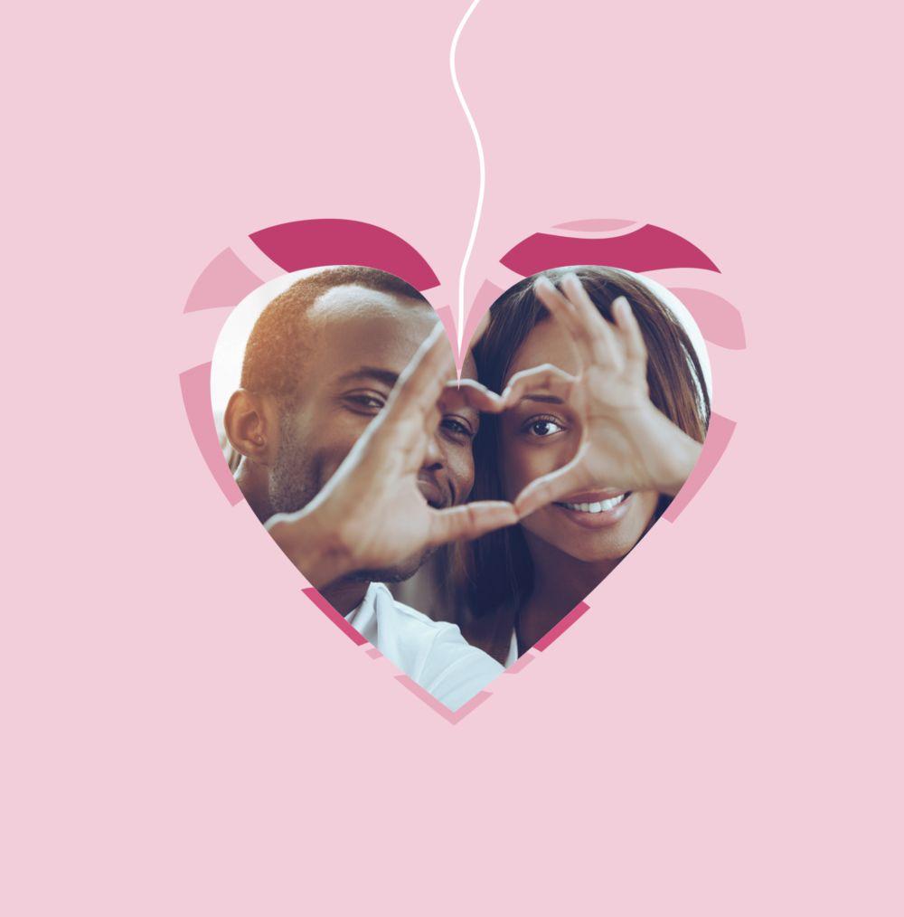Ansicht 4 - Valentinskarte Herzens Mobile