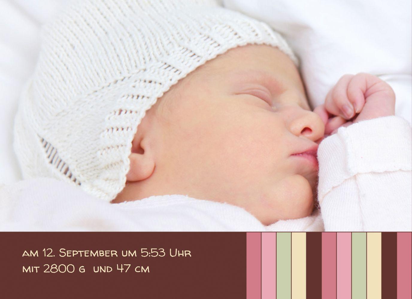 Ansicht 5 - Baby Dankeskarte Zwillinge Retro