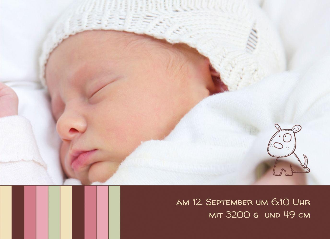 Ansicht 7 - Baby Dankeskarte Zwillinge Retro