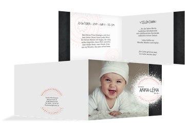 Baby Dankeskarte Mandala