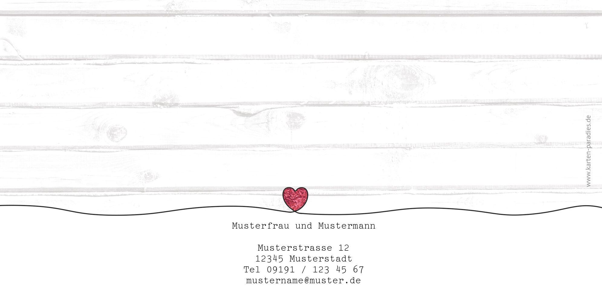 Ansicht 2 - Hochzeit Einladung Mr&Mrs
