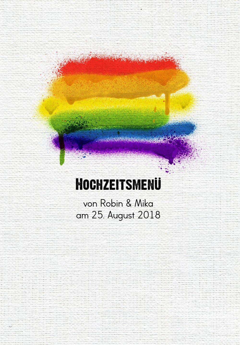 Ansicht 3 - Menükarte Regenbogenliebe