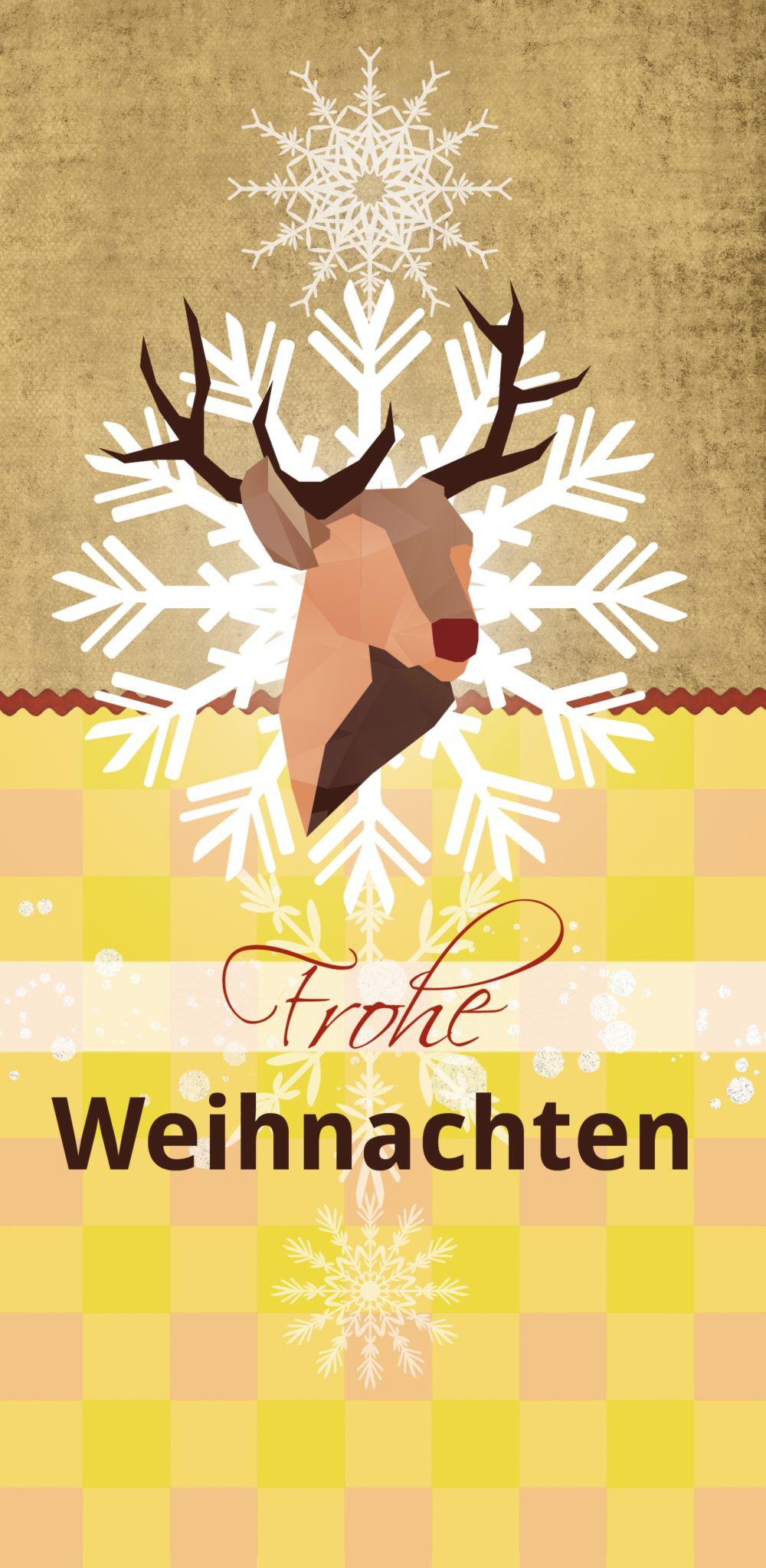 Ansicht 3 - Foto Grußkarte Hirschkopf
