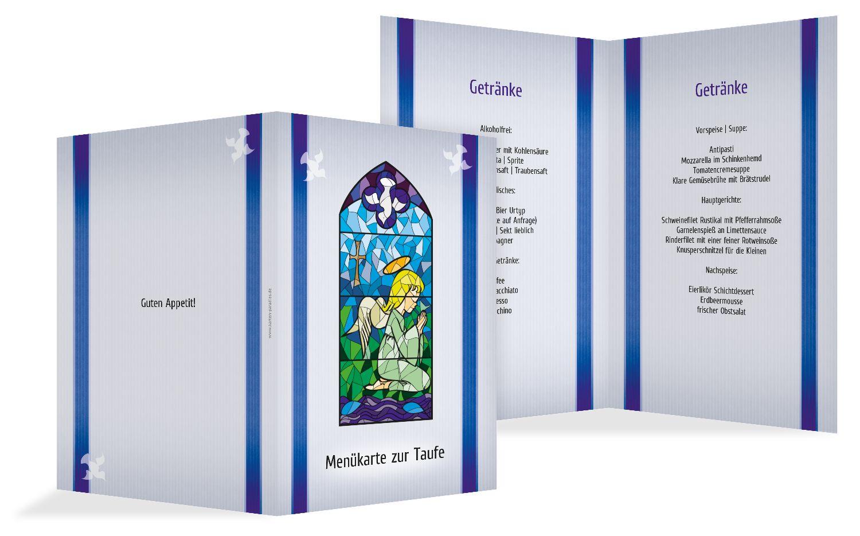 Menükarte Kirchenfenster