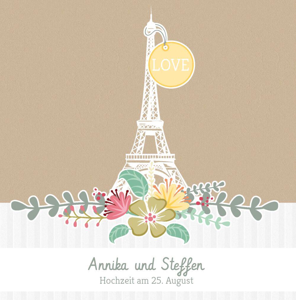 Ansicht 3 - Hochzeit Einladung Paris