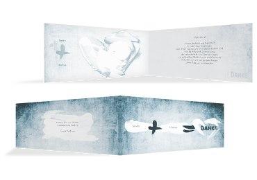 Hochzeit Dankeskarte Du + Ich = Liebe 2