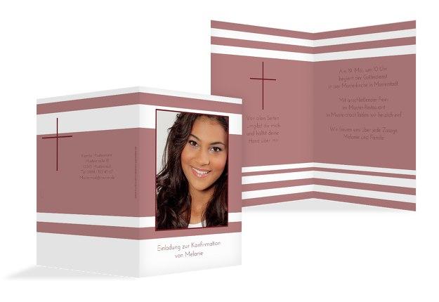 Einladungskarte zur Konfirmation Kreuz