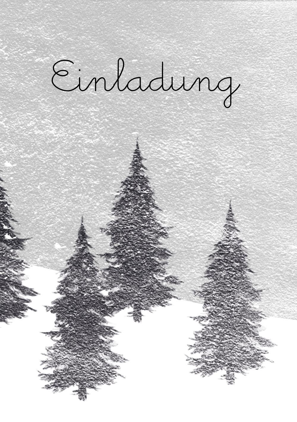 Ansicht 3 - Einladung Winterwald