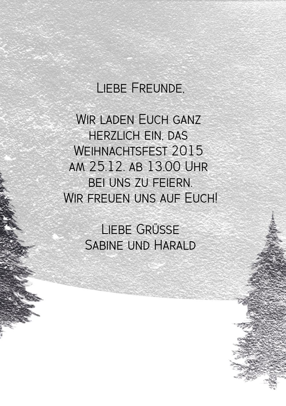 Ansicht 5 - Einladung Winterwald