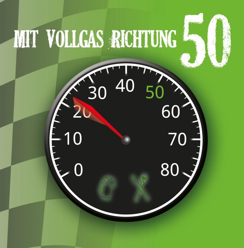 Ansicht 3 - Geburtstagseinladung Vollgas 50