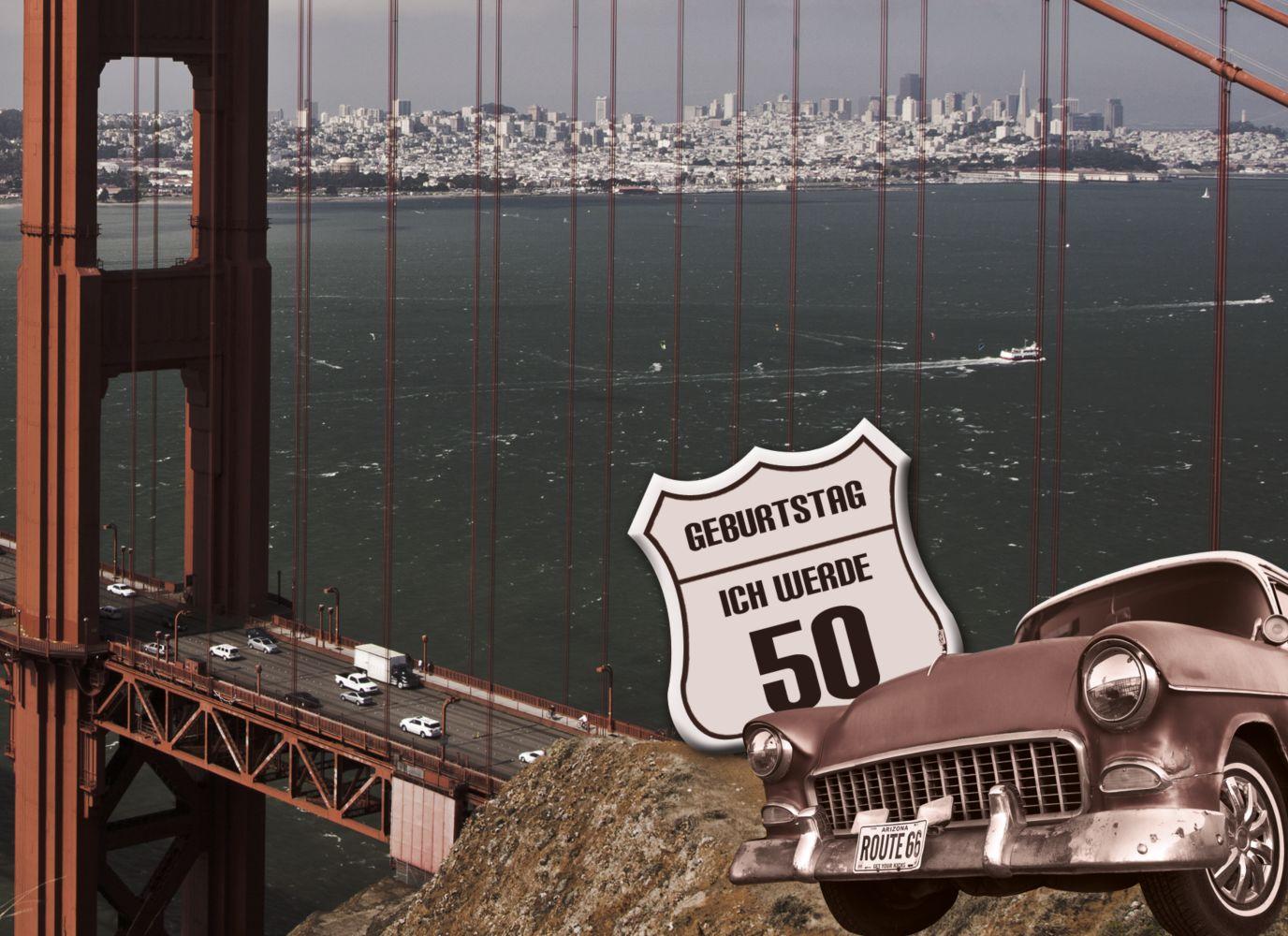 Ansicht 3 - Geburtstagskarte old bridge 50