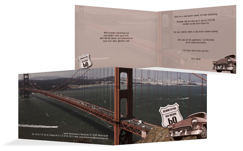 Geburtstagskarte old bridge 60