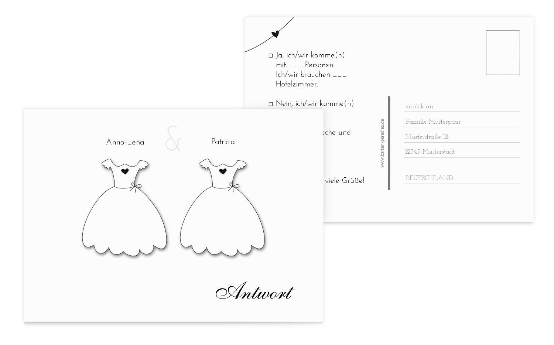 Hochzeit Antwortkarte dresses