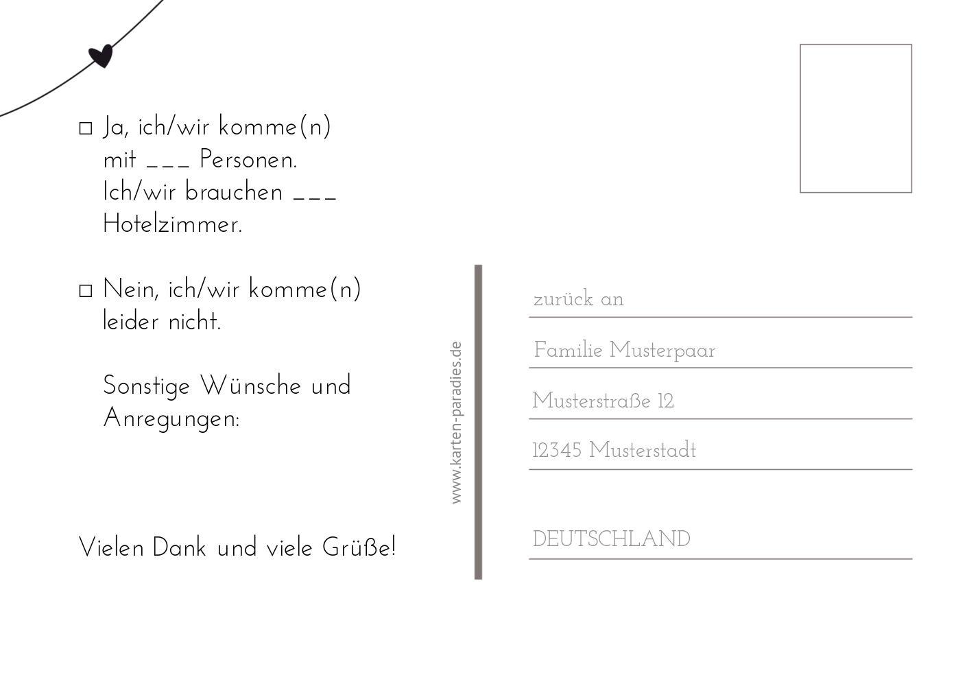 Ansicht 3 - Hochzeit Antwortkarte dresses