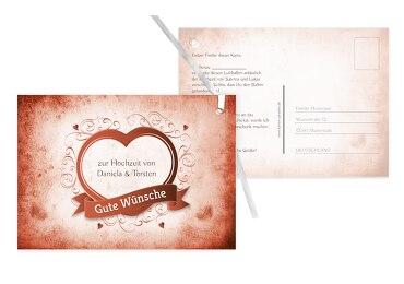 Hochzeit Ballonkarte Herz
