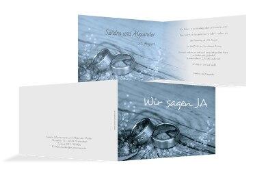 Hochzeit Einladungskarte Eheringe