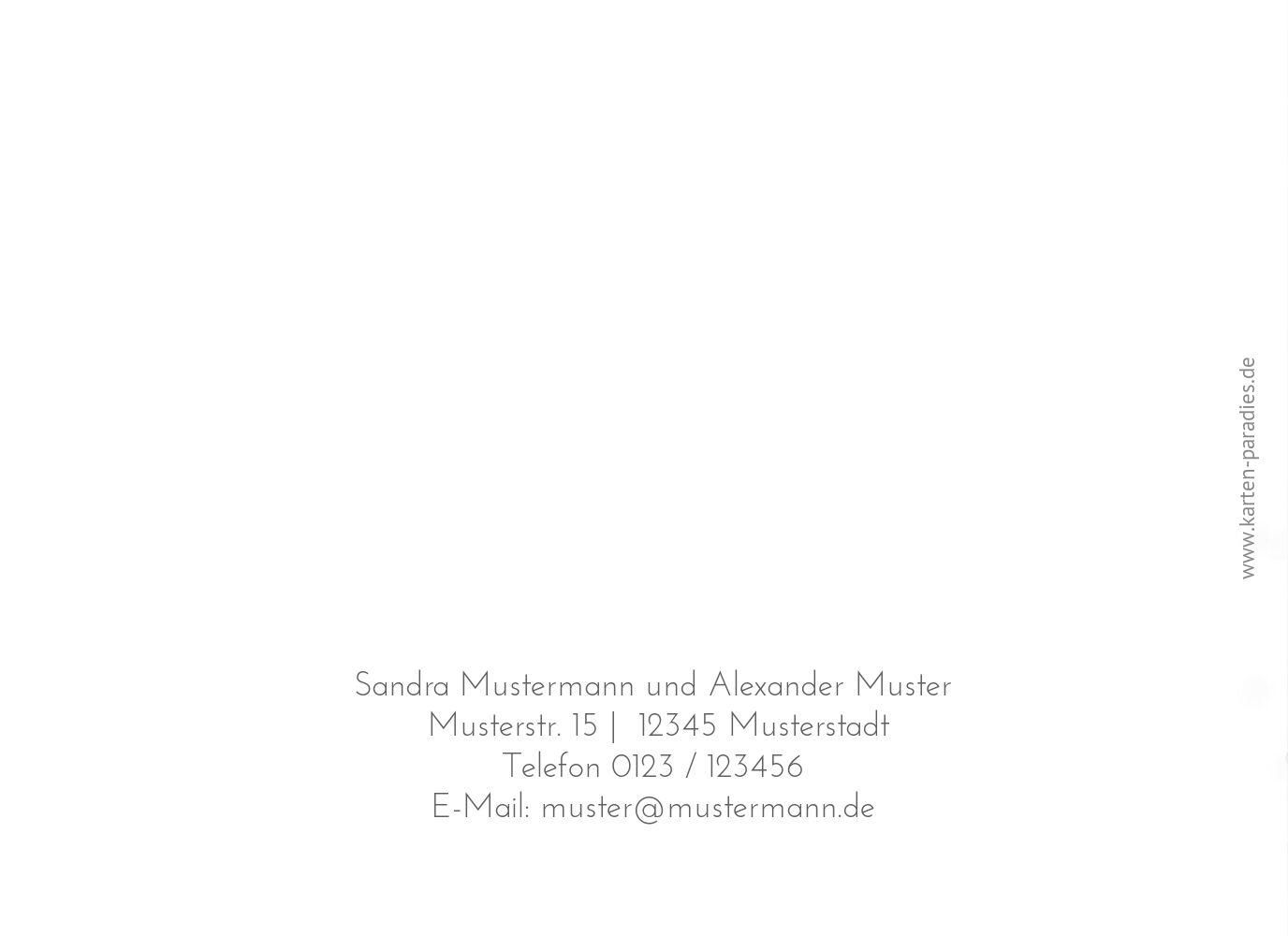Ansicht 2 - Hochzeit Einladungskarte Eheringe