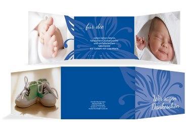 Baby Dankeskarte Blume