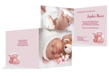 Baby Dankeskarte Punkte