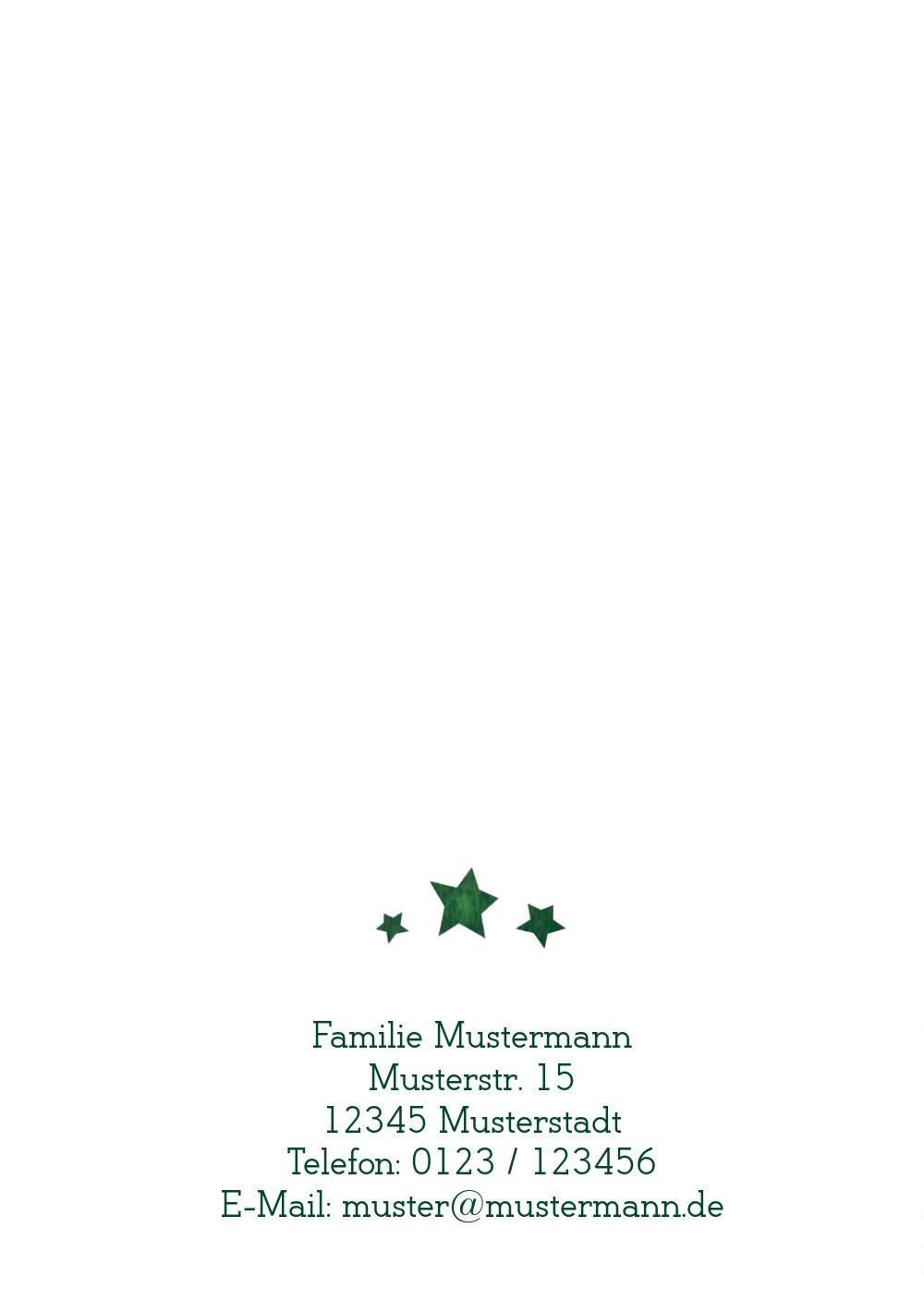 Ansicht 2 - Weihnachtsgrußkarte Letterbaum