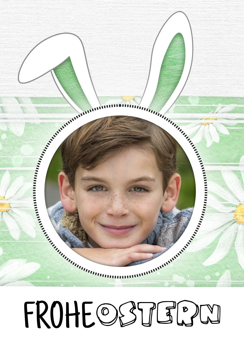 Ansicht 3 - Osterkarte Hasenohren