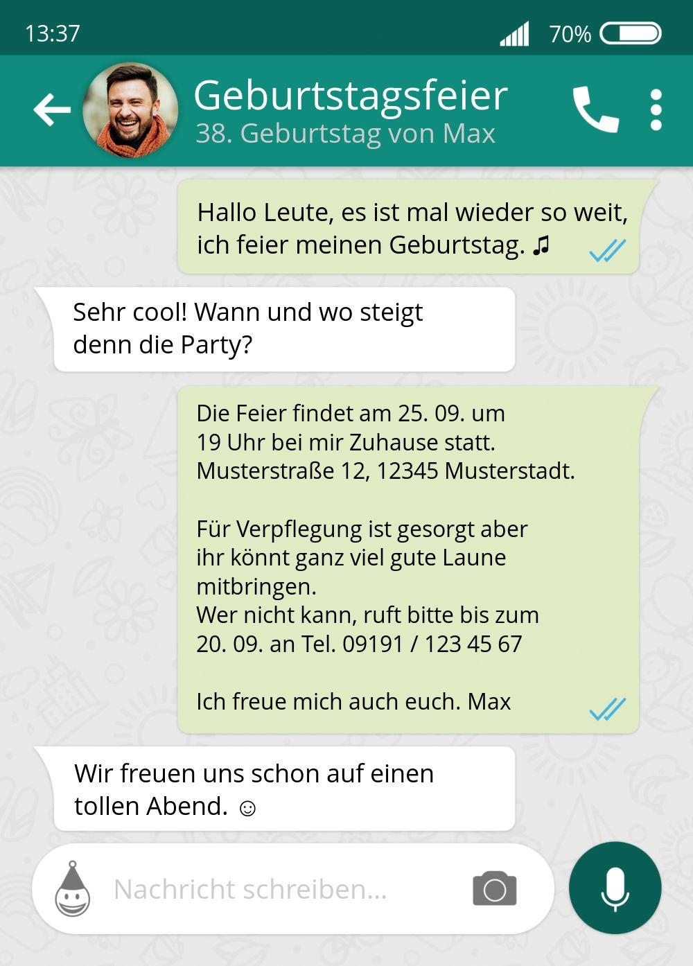Ansicht 2 - Geburtstagseinladung Chat