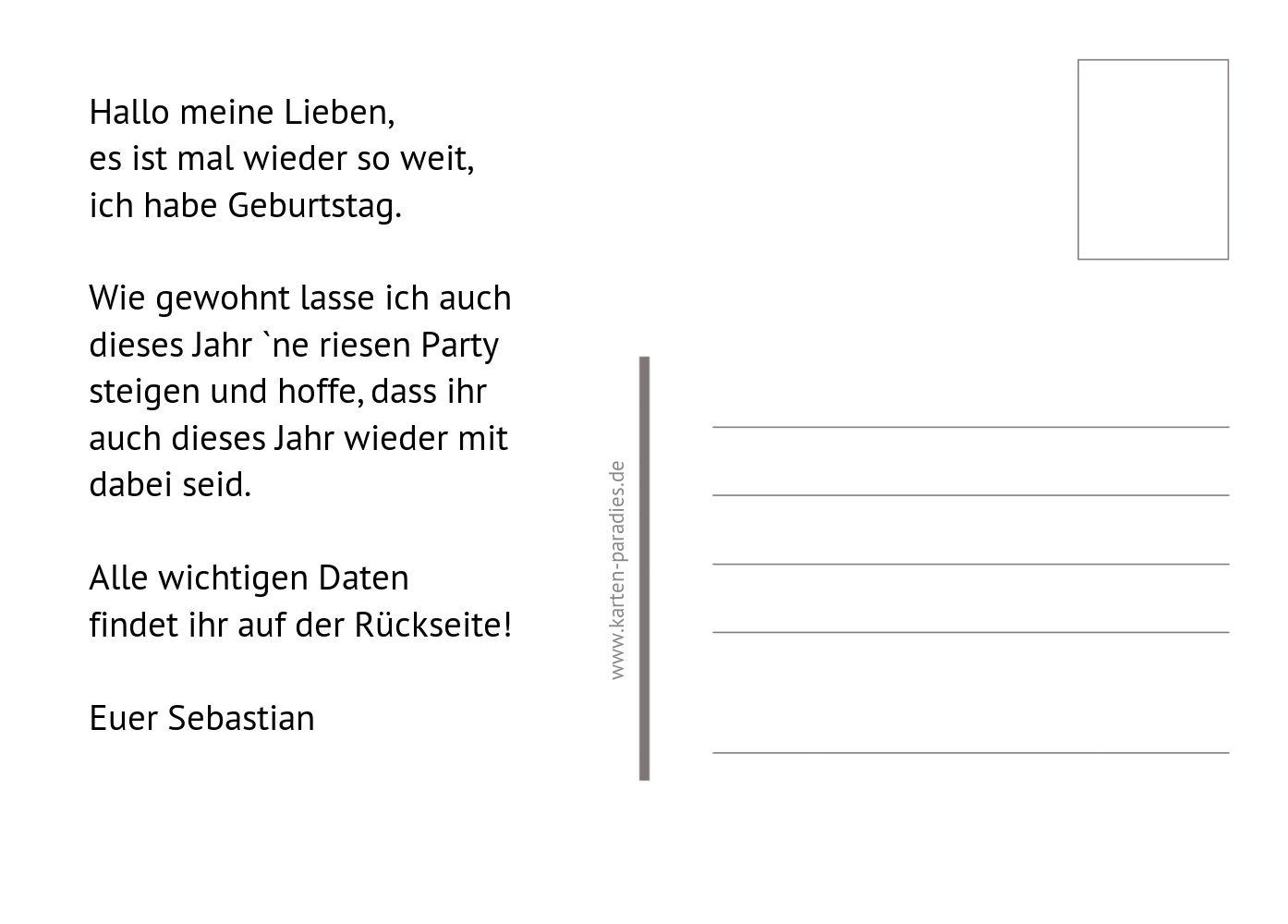 Ansicht 3 - Einladungskarte Partyrezept
