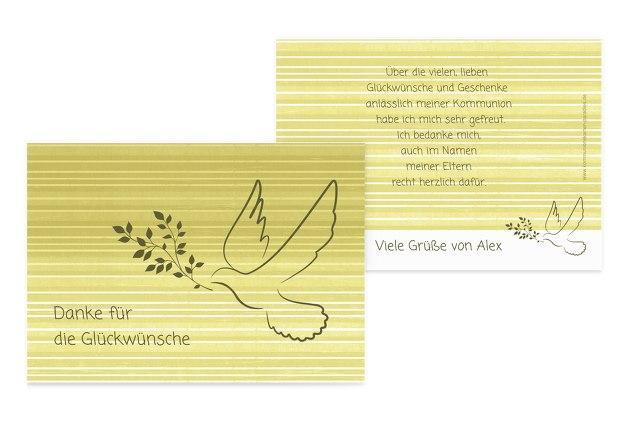 Kommunion Dankeskarte Taube 2