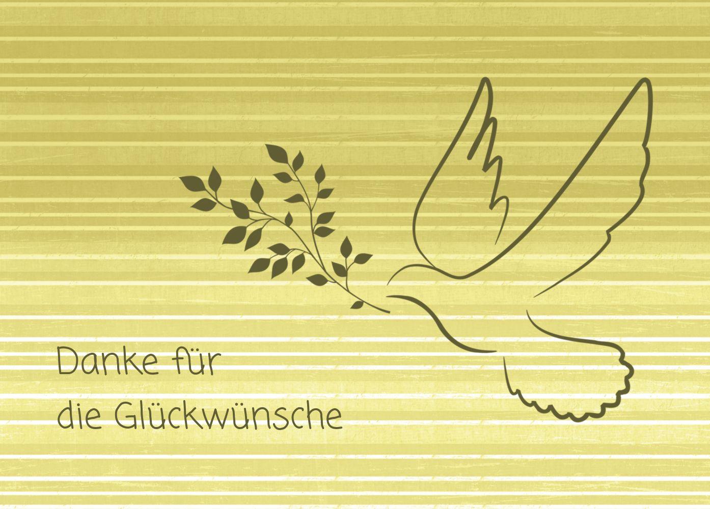 Ansicht 2 - Kommunion Dankeskarte Taube 2