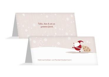 Tischkarte Weihnachtsmann