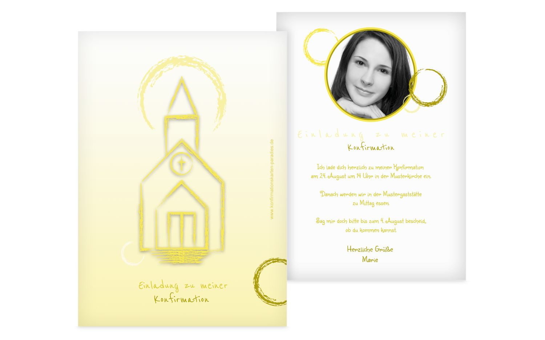 Einladung zur Konfirmation Kirche