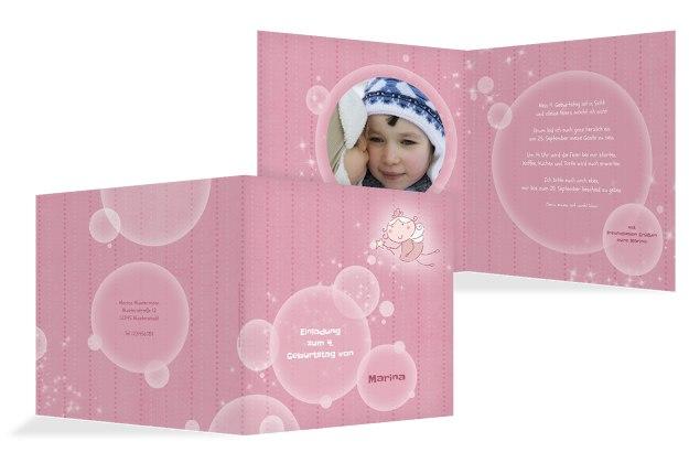 Einladungskarte magic bubbles Foto