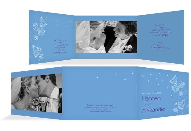 Hochzeit Dankeskarte Pusteblume