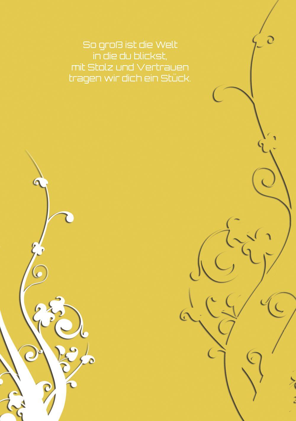 Ansicht 4 - Taufe Dankeskarte Florale Schnörkel 2