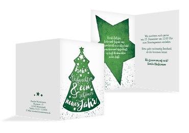 Weihnachtseinladung Letterbaum