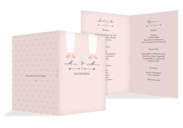 Hochzeit Menükarte Pärchen - Frauen