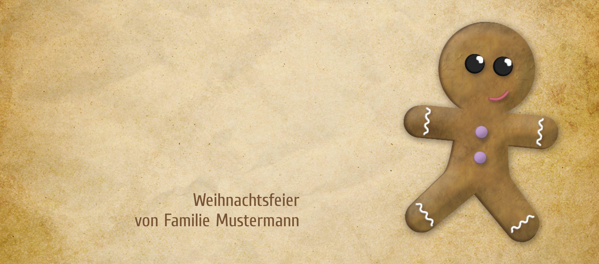 Ansicht 3 - Tischkarte Lebkuchenmännchen
