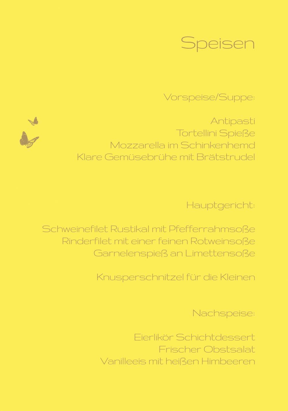Ansicht 5 - Konfirmation Menükarte Butterfly